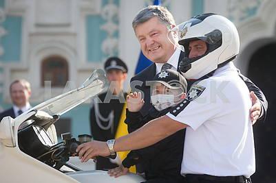 Petro Poroshenko and Gleb Hurtepa