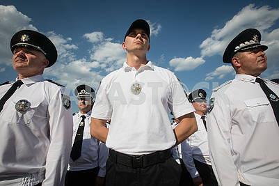 Policemen in the ranks