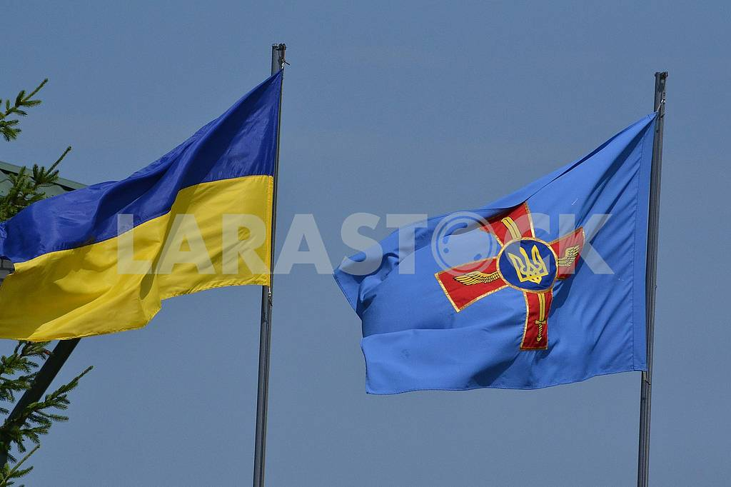 The national flag of Ukraine and the flag of the Air Forces of the Armed Forces of Ukraine — Image 60757