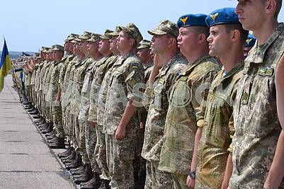 Soldiers of the Ukrainian Army