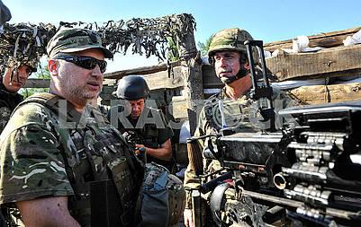 Alexander Turchinov at the checkpoint