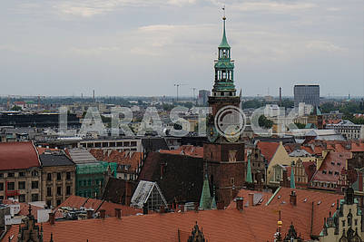 View of Wroclaw from above
