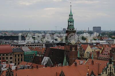 Вид на Вроцлав сверху