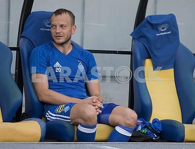 Олег Гусев на скамье запасных
