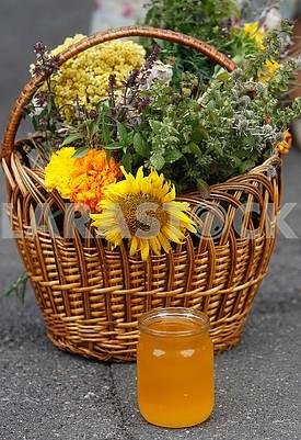 Boney honey and basket