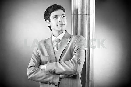 Portrait of the businessman in suit