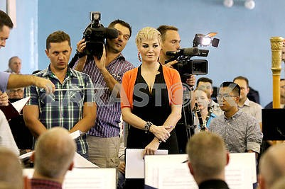 "Rehearsal of the concert ""Maydan Unity"" on the Independence Day"