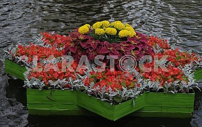 Floating flower beds