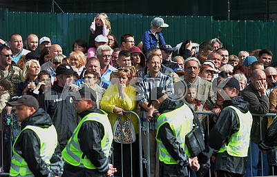 Spectators at the parade