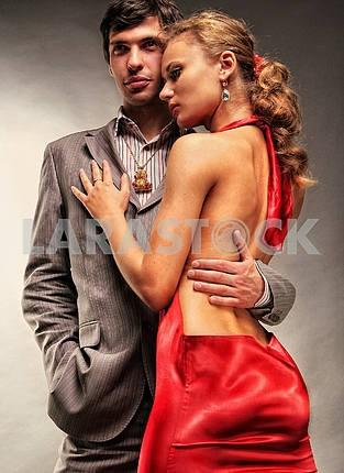 Portrait young beautiful couple