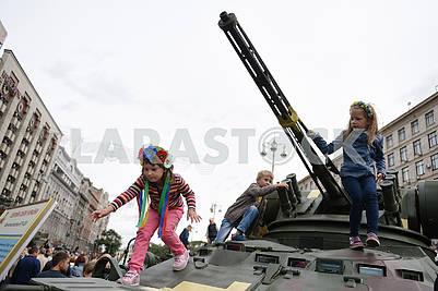Children on the BTR Tower