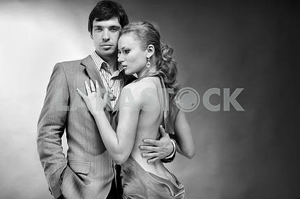 Portrait young beautiful couple.