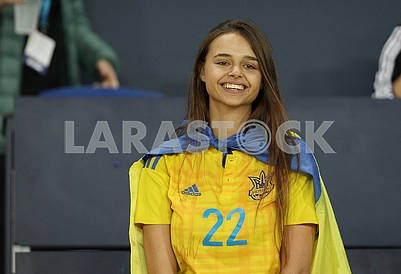 Fan of the national team of Ukraine