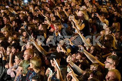 Spectators at a concert