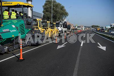 Construction of the road Kiev Znamenka