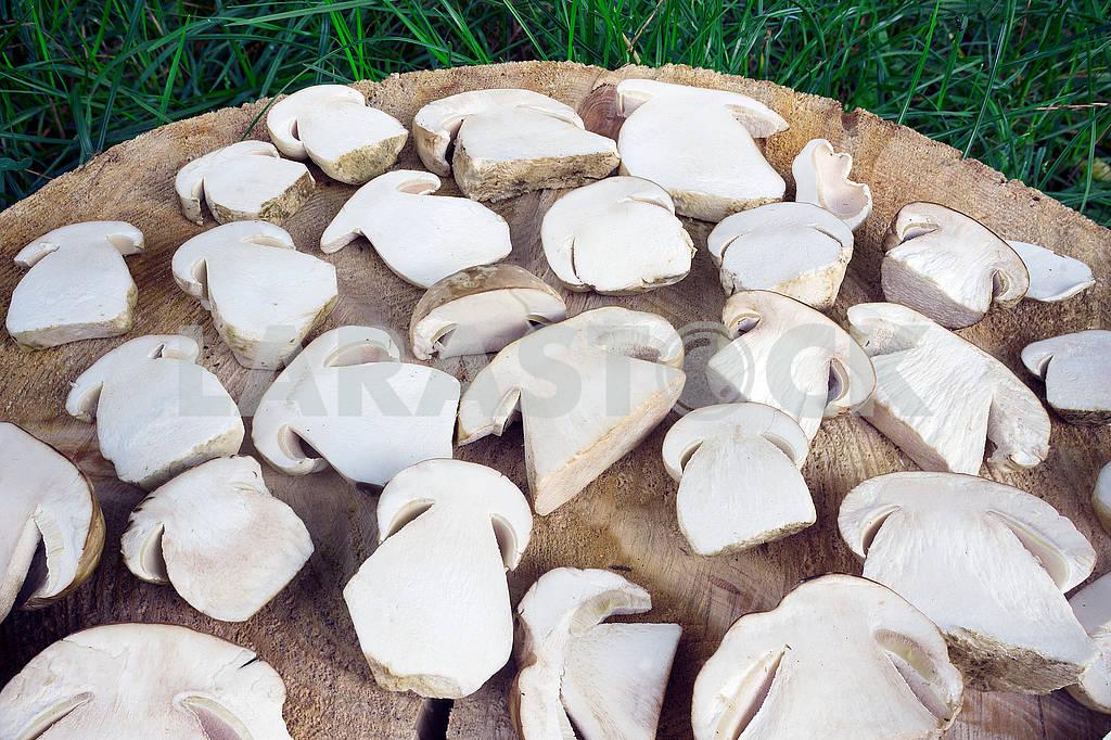 Sliced white mushrooms — Image 62325