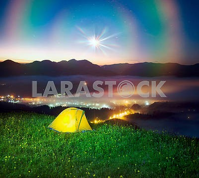 Tent over the village of Verkhovyna