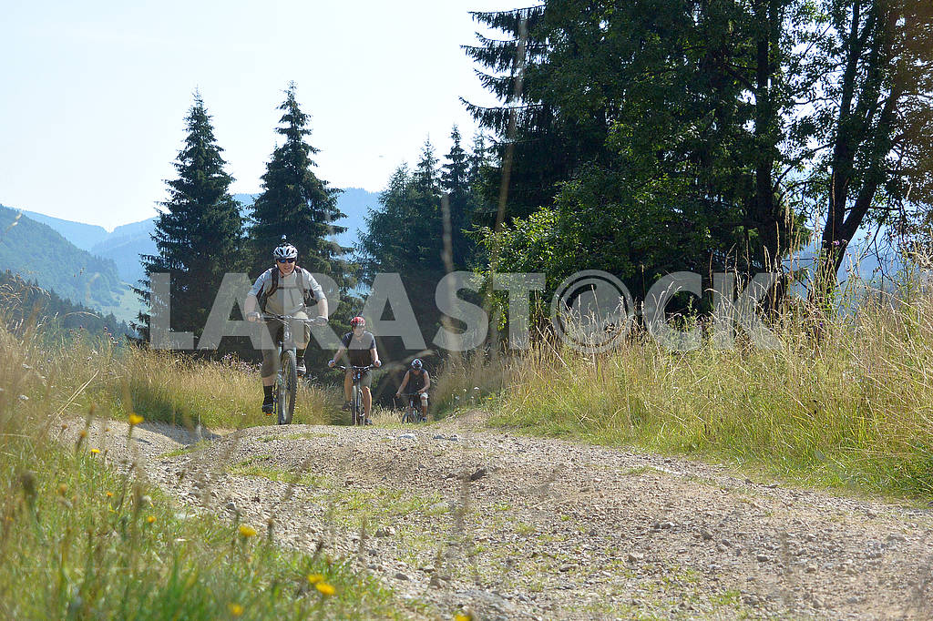 Cyclists in the mountains — Image 62364