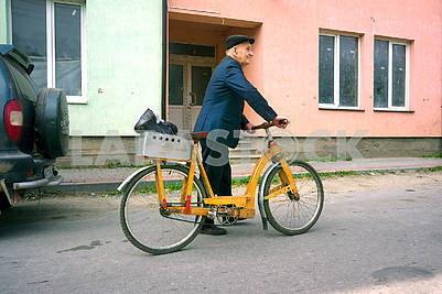 Wooden bicycle in the Carpathians