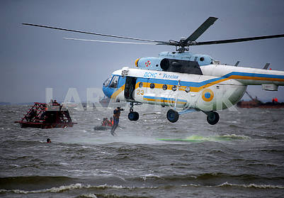 Helicopter rescuers