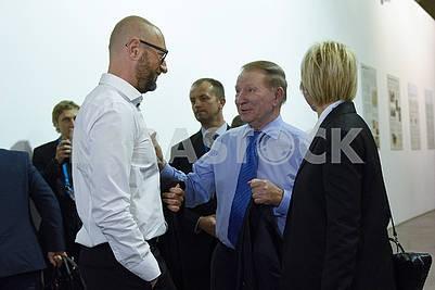 Arseniy Yatsenyuk, Leonid Kuchma, Elena Pinchuk
