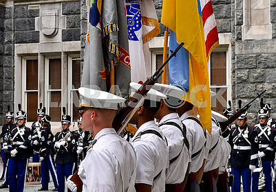 Honor Guard and Military Band