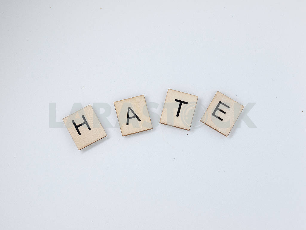 Hate Wooden Letters — Image 62652