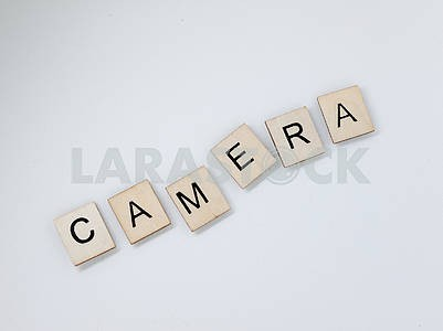 Camera Wooden Letters