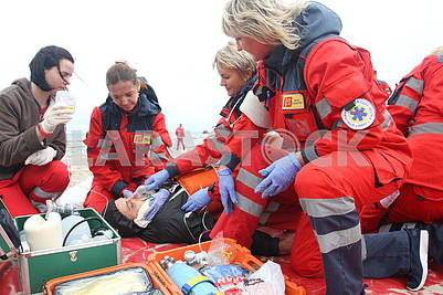 Medical workers of the Department of Emergency Situations