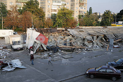 Demolition of IAFs in the market of Youth