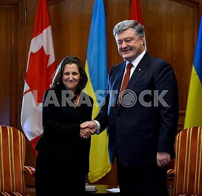 Khrystia Freeland, Petro Poroshenko
