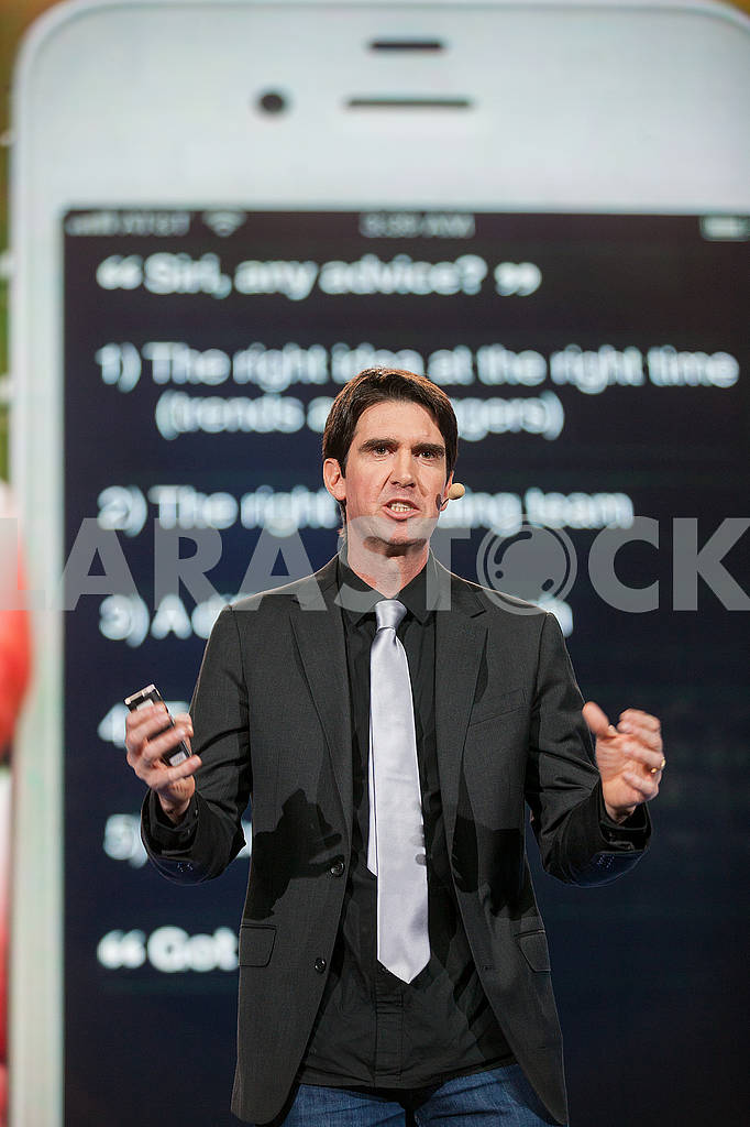 Speech by Adam Cheyer at the Olerom Forum 1. — Image 63058