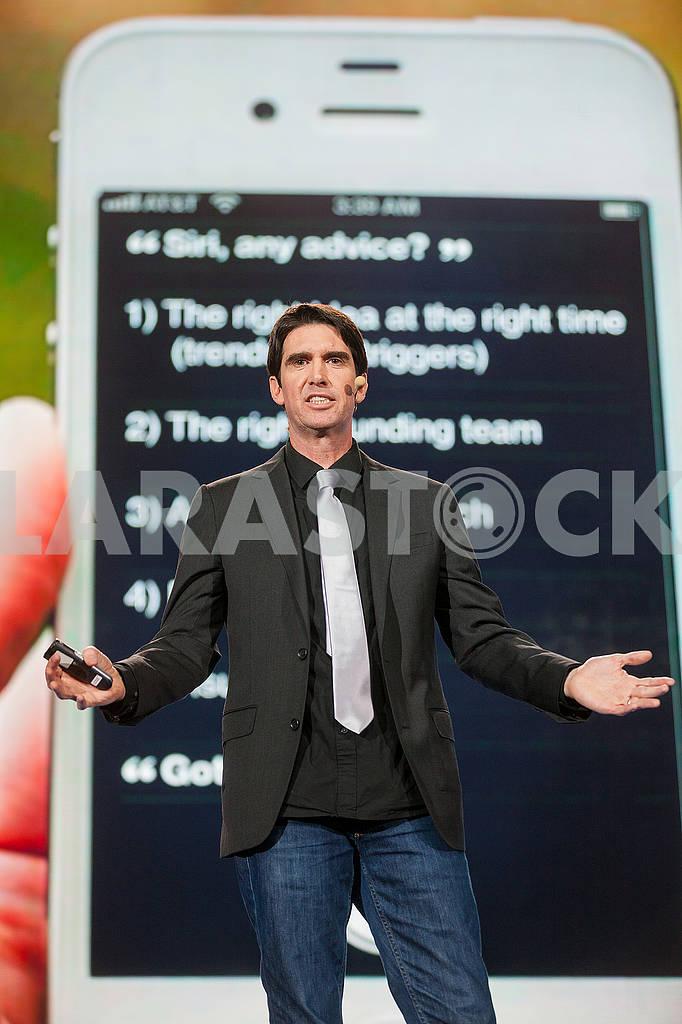 Speech by Adam Cheyer at the Olerom Forum 1. — Image 63059