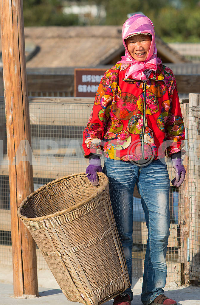 Woman with a basket — Image 63136