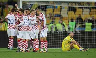 Football players of Croatia and Andrei Yarmolenko