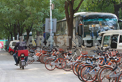 Велосипедная стоянка в Пекине
