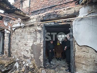 Ruined houses in Kalynivka