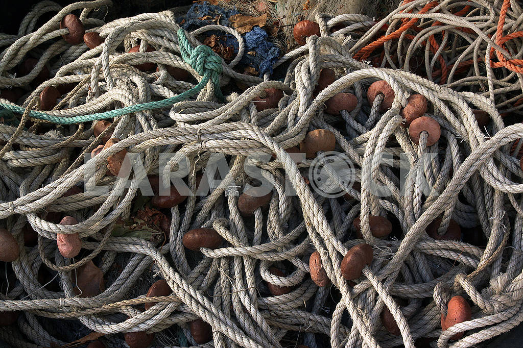 Fishing nets on the quay — Image 63502