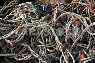 Fishing nets on the quay
