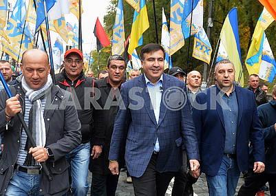 Saakashvili and his supporters