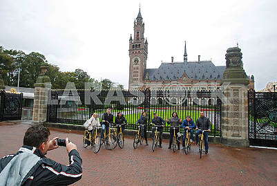 Cyclists in The Hague
