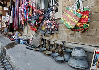 Souvenirs on the street Baku
