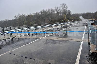 The bridge across the Seversky Donets