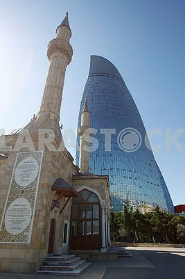 The mosque of martyrs and the fiery tower