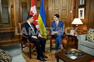 Vladimir Groisman and Justin Trudeau