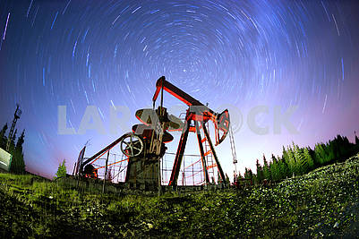 Oil pump in the mountains