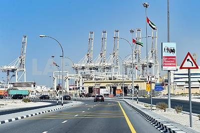 Container terminal in Dubai