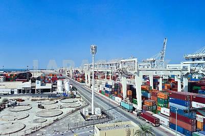 Container terminal in Dubai