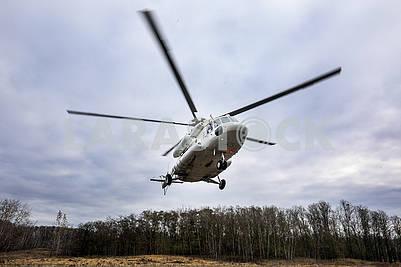 Вертолет над полигоном