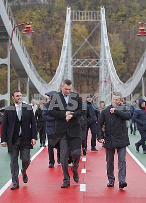 Vitali Klitschko on the Pedestrian Bridge
